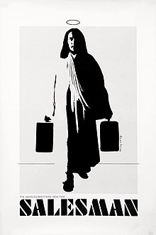 Monochramatic illustration of Jesus with a halo carrying two briefcases.
