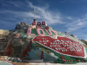 Slab City, California - Salvation Mountain