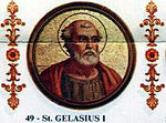 Portrait of Pope Gelasius I in the Basilica of Saint Paul Outside the Walls, Rome