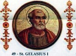 Pope Gelasius I - Image: San Galasio I