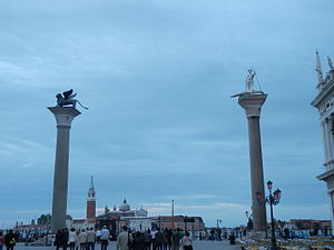 Columns of San Marco and San Todaro - Image: San Mark's lion in venice 2