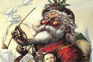 Santa suit - A Thomas Nast Santa, from 1881, wearing the modern Santa suit