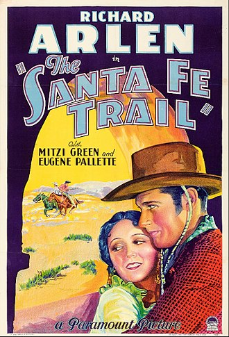 The Santa Fe Trail (1930 film) - Theatrical release poster
