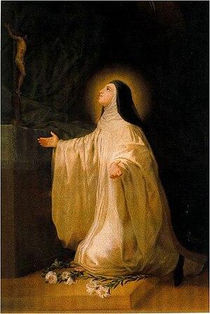 Lutgardis - Santa Lutgarda by Goya, 1787. Monasterio de San Joaquín y Santa Ana, Valladolid.