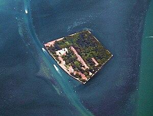 Santa Maria della Grazia - Image: Santa Maria della Grazia (Venice) from the air