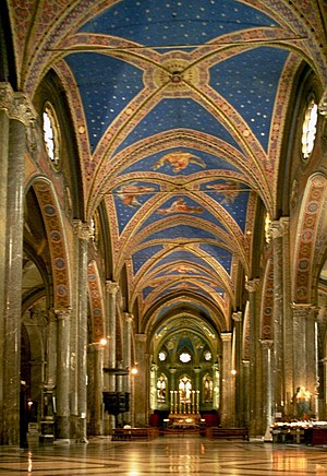Interior of the Basilica of Santa Maria sopra ...