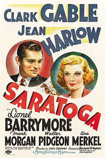 <i>Saratoga</i> (film) 1937 film by Jack Conway