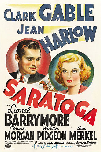 Saratoga (film) - Theatrical poster