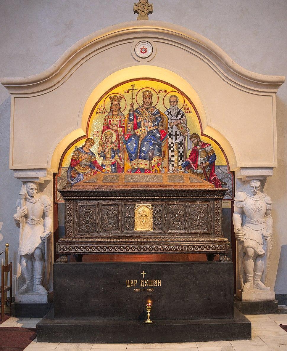 Sarcophage de Stefan Dušan, église Saint-Marc, Belgrade