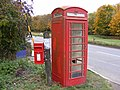 Saxtead Green Postbox and Telephone Box - geograph.org.uk - 1570573.jpg