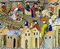 Scène de foire - ca 1400 - BNF Fr12559 f167.jpg