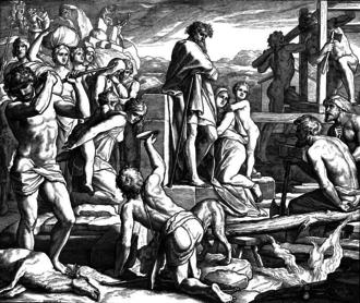 Enoch (son of Cain) - Depiction of Cain establishing the city of Enoch, by Julius Schnorr von Carolsfeld