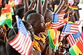 School children during the US First Lady, Melania Trump's Visit to Ghana 1.jpg