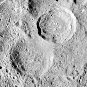 Schorr (crater) - Image: Schorr crater Schorr A crater AS15 M 2369