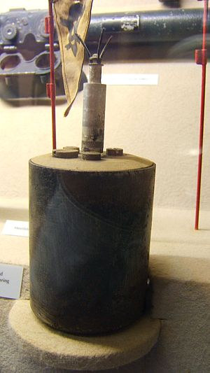 S-mine - S-mine in a museum