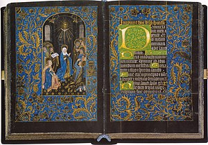 Black Hours, MS M.493 - Pentecost, Folios 18v, c 1475-80. Morgan Library & Museum, New York. Each folio 170 x 122 mm