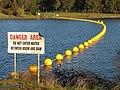 Scrivener Dam boom.JPG