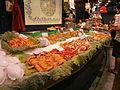 Sea animals (shrimps, crabs etc. for sale) at Mercat de la Boqueria in BCN.JPG