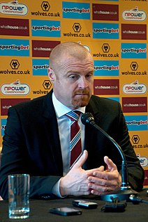 Sean Dyche English association football player and manager