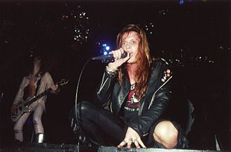 Sebastian Bach - Rachel Bolan (left) and Sebastian Bach (right) opening for Mötley Crüe in 1989