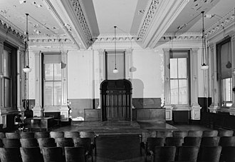 Tweed Courthouse - Image: Second floor court chambers , NE corner 118474pv