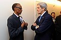 Secretary Kerry Chats With Rwandan President Kagame in Davos (12120568665).jpg