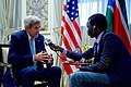 Secretary Kerry Speaks About Issues Relating to South Sudan During an Interview With Daniel Danis of Eye Radio in Nairobi (29051696972).jpg