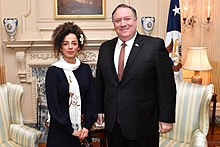Masih Alinejad and Secretary of the State, Mike Pompeo