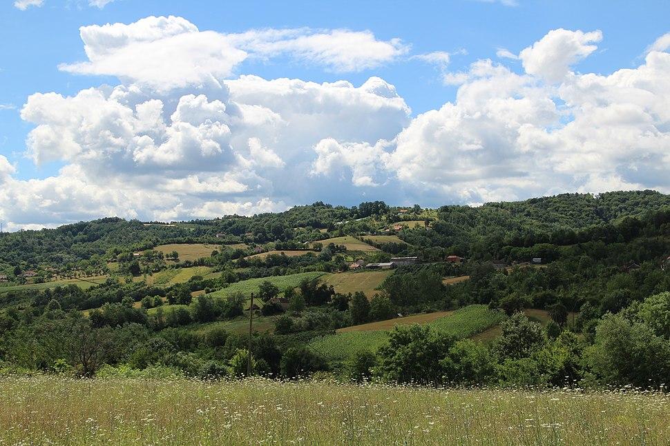 Selo Pričević - opština Valjevo - zapadna Srbija - panorama 1