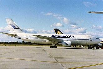 Sempati Air - Sempati Air Airbus A300 at Perth Airport in the early 1990s