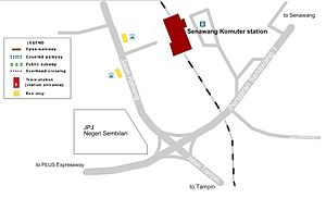 Senawang Komuter station - The map of Senawang station.