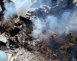 Останките от Кулите близнаци, 17 септември 2001 година