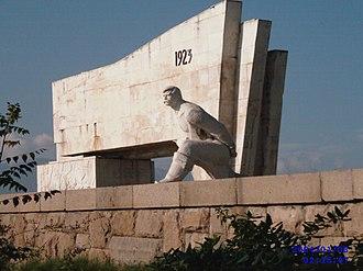 September Uprising - Communist-era memorial of the September Uprising in Pazardzhik
