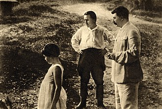 Great Purge - Leningrad party leader Sergei Kirov with Stalin (and his daughter Svetlana) in 1934.