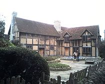 John Shakespeare's House in Stratford-Upon-Avon, now the home of the  Shakespeare Birthplace Trust.