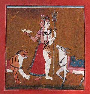 Ardhanarishvara - A rare example of a Shakta Ardhanarishvara, where the dominant right side is female