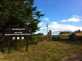 Shannon Pot - Image: Shannon Pot, entrance gate sign