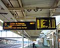 Sheffield Station - Destination boards platform 14-03-06.jpg