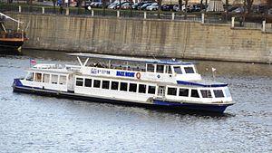 Ship on the Vltava in Prague.JPG