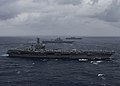 Ships from the Indian Navy, JMSDF and the U.S. Navy sail in formation in the Bay of Bengal during exercise Malabar 2017.jpg