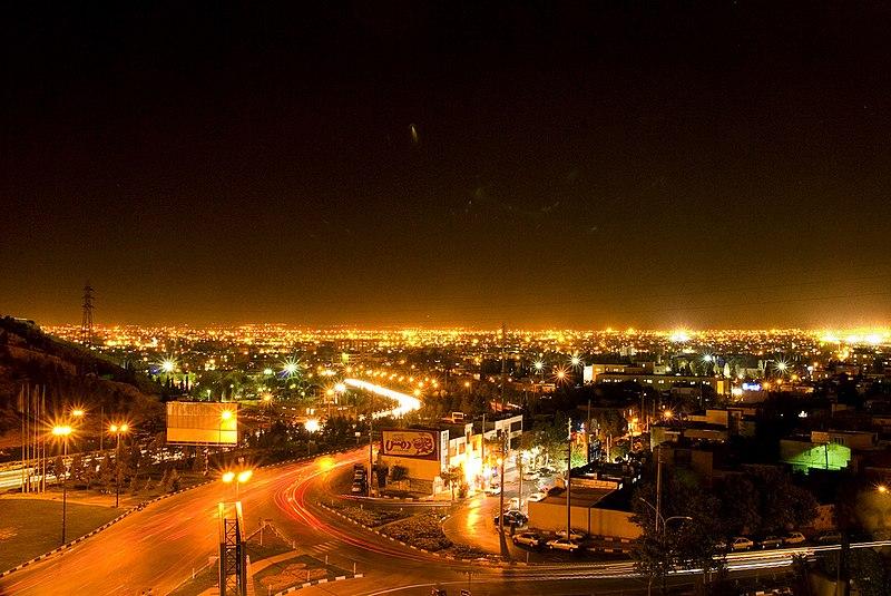 پرونده:Shiraz View @ night.jpg