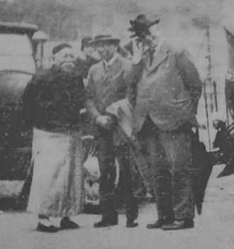Henry Gollan - Shouson Chow, Justice John Wood and Gollan in 1929 at the funeral of Mr H.P. White