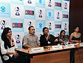 "Shri Anirudh Roychowdhury along with Shri Rahul Bose, Ms. Mita Vasisht, Ms Radhika Apte addressing at the Press Conference on Indian Panorama Feature ""Antaheen"" during the 40th International Film Festival (IFFI-2009).jpg"