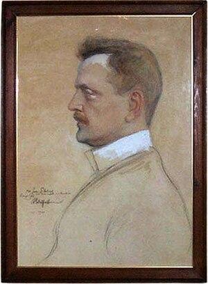 Sibelius painted by Albert Edelfelt
