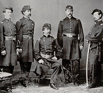 III Corps (Union Army) - Daniel Sickles and staff after the Battle of Gettysburg