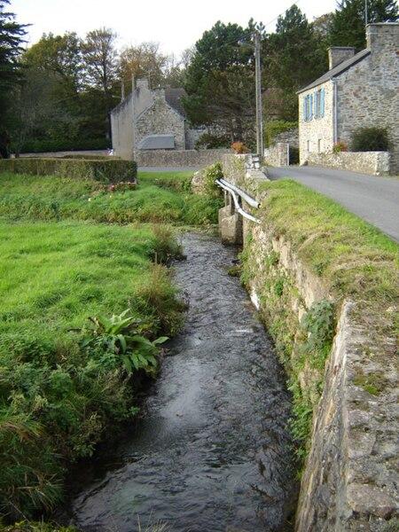 Divette river in Sideville, Manche, France