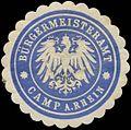 Siegelmarke Bürgermeisteramt Kamp-Rhein W0383105.jpg