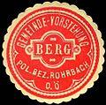 Siegelmarke Gemeinde-Vorstehung Berg - Pol. Bez. Rohrbach O. Österreich W0301727.jpg