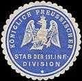 Siegelmarke K.Pr. Stab der 111. Infanterie-Division W0283686.jpg