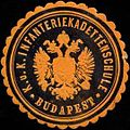 Siegelmarke K.u.K. Infanteriekadettenschule Budapest W0317073.jpg